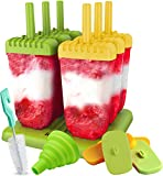 Lebice Popsicle Molds Set - BPA Free - 6 Ice Pop Makers + 1 Extra Mold + Silicone Funnel + Cleaning Brush + Recipes E-book