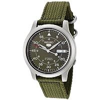 Seiko Men's SNK805 Seiko 5 Automatic Green Canvas Strap Watch from Seiko
