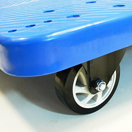 JORESTECH Platform Cart Dolly Warehouse Moving Push Hand Truck 330 LBS 2 Floor Rubber Wheel