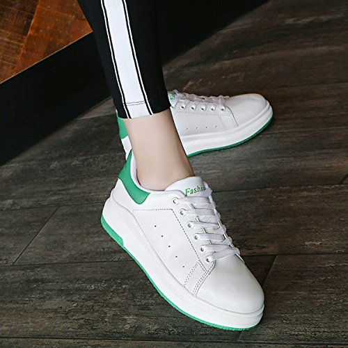 Ocio Zapatos Planos Respirables Huecos Salvajes Green