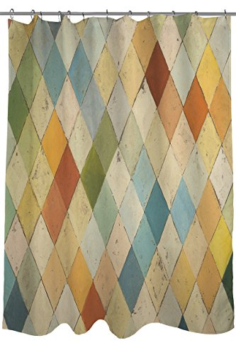 Patchwork Mat Pastel - Manual Woodworkers & Weavers Shower Curtain, Argyle