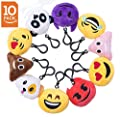Niviy Emoji Cute Plush Pillows Little Emoji Faces Great Birthday Party Favors, Kids Party Supplies, Pack of 10(2 inch)