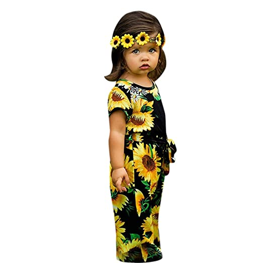 7df65386b060 Amazon.com  Vicbovo Clearance Cute Baby Girls Jumpsuit