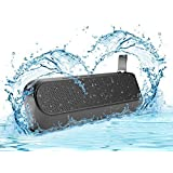 SoundPal Free Spirit IPX65 10 Watt Rugged Bluetooth Water-resistant Shockproof Wireless Speaker with 2600mAh Battery, Compatible with all Bluetooth Devices - Black