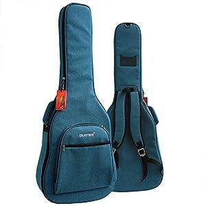 Eleoption wasserdichte Oxford-Gitarrentasche 104,1cm 106,7cm Nylon gepolstert E-Gitarrentasche Akustik- und klassische Gitarren wasserdicht stoßfest blau
