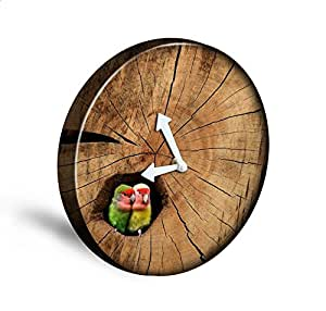 Aenhg Country Style Fashion Small Circular Living Room Wall Clock Wall Clock Home