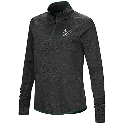 (Colosseum Womens USF South Florida Bulls Quarter Zip Long Sleeve Shirt - XL )
