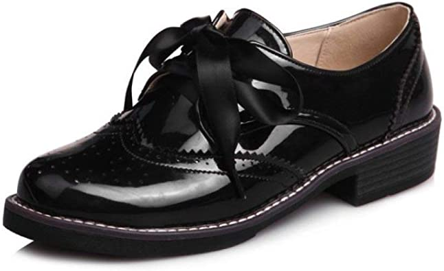 Women's Perforated Lace-up Oxford Shoes