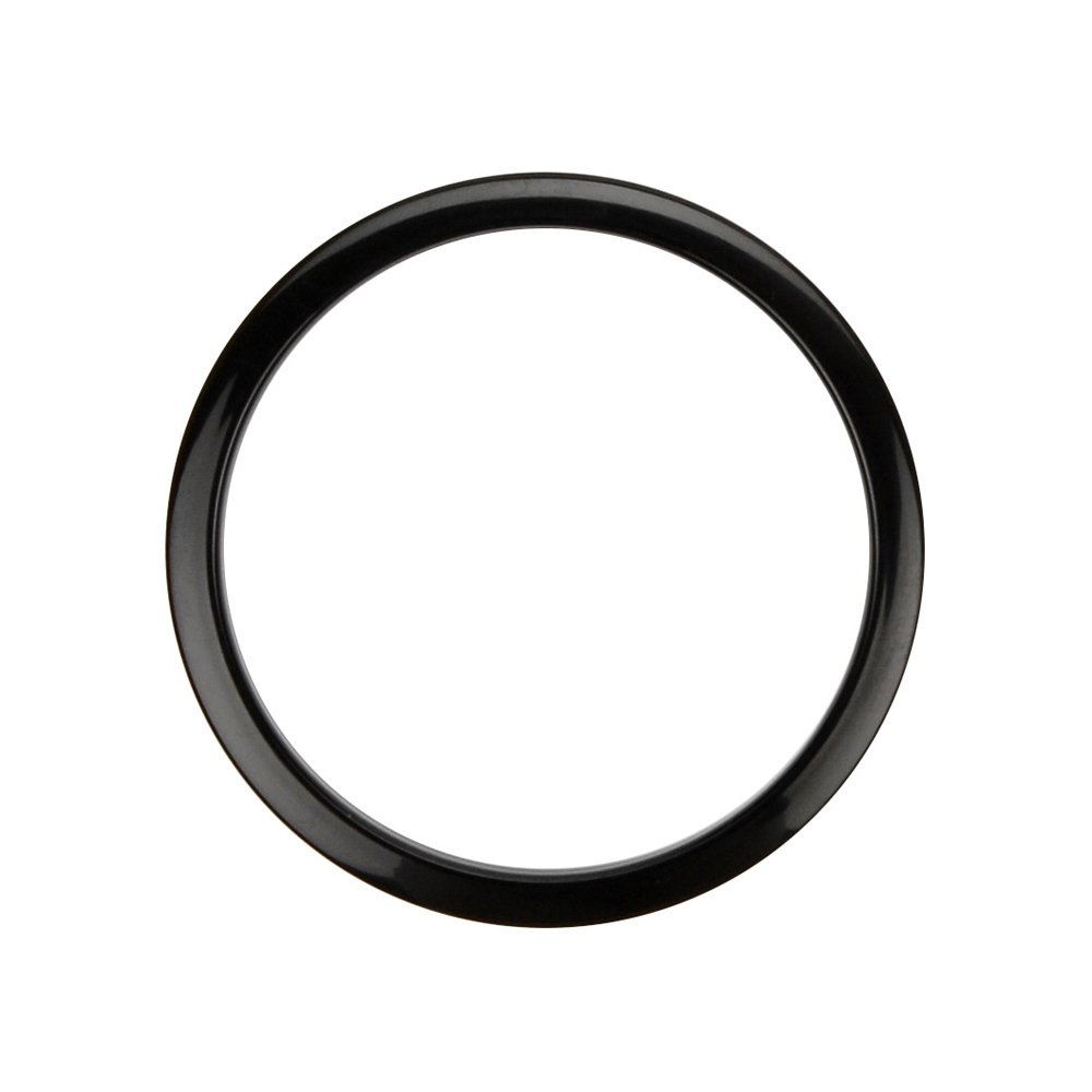 Bass Drum O's Port Hole Ring - 4 Inches - Black by Bass