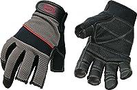 Boss Gloves 5201M The Carpenter Glove, Three Open Finger Tips, Medium