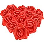 Juvale-100-Pack-Artificial-Rose-Flower-Heads-for-Wedding-Decorations-Baby-Showers-Crafts-Red-3-Inches