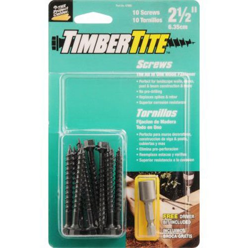 Hillman 47986 Timbertite Landscape Screw, 1/4 by 2-1/2-In...