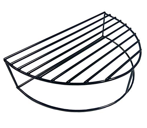 soldbbq Half-Moon Porcelain Coated Stack Rack Expander Rack,Smoking/Warming/Grilling Grate for XLarge Big Green Egg, 22 inch Weber Kettle Grill,Vision Grill Etc