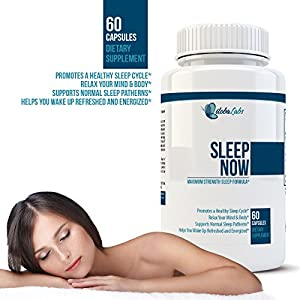 Sleep NOW #1 Natural Sleeping Aids - 60 Capsules - Insomnia Relief - 100% Herbal & Non-habit Forming Sleeping Pill - Proprietary Blend Includes Melatonin, Valerian Root , Chamomile , Passionflower!