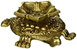 Indian Art Decorative Turtle Shape Handmade Oil Wick Lamp Diyas Home Decorations Hinduism 1.75x5.75x3.5 Inch