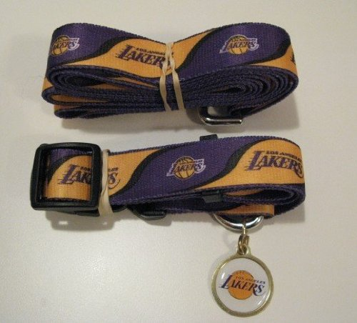 Hunter Los Angeles Lakers Pet Combo Set (Collar, Lead, ID Tag), Large