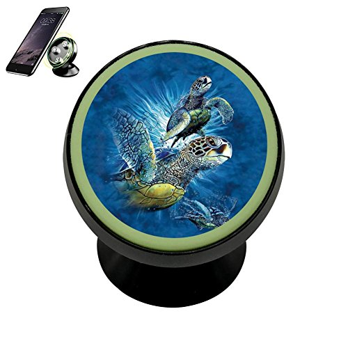 Sea Turtles Magnetic Phone Car Mount Holder Universal 360 Ro