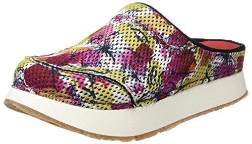 ART 0488 T.Tecnico Mykonos, Zuecos para Mujer Varios colores (Flowers)