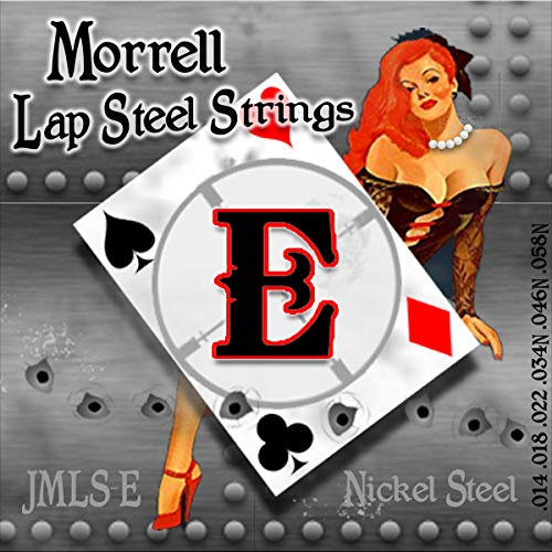 Morrell JMLS-E Premium 6-String Lap Steel Guitar Strings for E-Tuning 14-58 ()