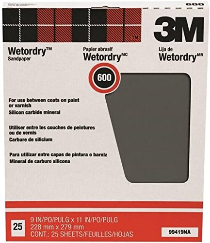 3M Pro-Pak Wetordry Sanding Sheets, 600A-Grit, 9-Inch by 11-Inch by 3M