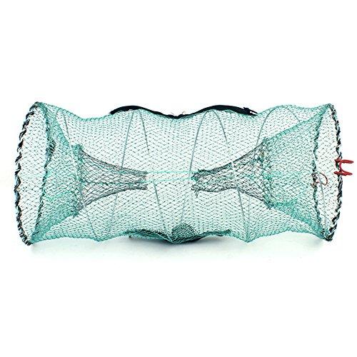 iztor 2 PCS Crab Trap Crawfish Lobster Shrimp Collapsible Cast Net Fishing Nets Portable Folded Fishing Accessories ()