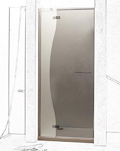 LA PUERTA DE LA DUCHA CHIAROSCURO NICHE BATTANTE-VIDRIO DE SEGURIDAD 6 MM, ALTURA 200 CM: Amazon.es: Bricolaje y herramientas