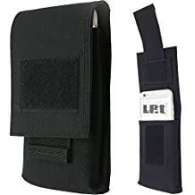 """LefRight Tactical Molle Vertical Waist Belt Large Pouch Bag Holster Cover with Pull Tab for 5.5"""" iPhone (Black)"""