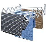 Home Basics Wall Mount Folding Accordion Clothes Drying Rack,...