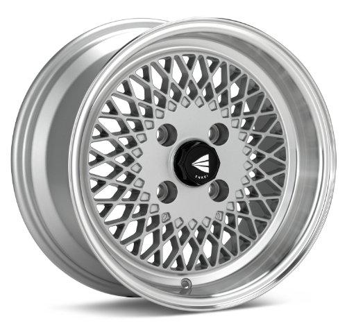 15x7 Enkei ENKEI92 (Silver w/ Machined Lip) Wheels/Rims 4x100 (465-570-4938SP) (Honda Civic Rims Gold)