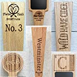 Custom Personalized Beer Tap Handle Oak
