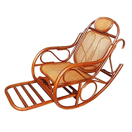 Enjoyable Amazon Com Natural Bamboo Rattan Wicker Rocker Rocking Spiritservingveterans Wood Chair Design Ideas Spiritservingveteransorg