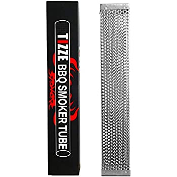 "TIZZE 12"" BBQ Pellet Smoker Tube Works with Electric, Gas, Charcoal, Pellet Grills for Hot and Cold Smoking - Smoke Generator"