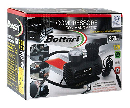 Bottari 24050 Compressore con Manometro 250 Psi, Nero Bottari spa G1A24050_138