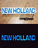 3D 12V LED Light Neon Plate for NEW HOLLAND Tractor Driver Blue Sign Table ILLUMINATING ONLY FORWARD - Doesn't Bothering You While Driving