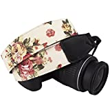 DSLR / SLR Camera Neck Shoulder Belt Strap - Wolven Camera Neck Shoulder Belt Strap for Nikon Canon Samsung Pentax Sony Olympus Fujifilm Instax Mini Polaroid Pringo - Geige Vintage Floral