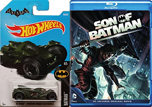 Son of Batman [Blu-ray] & Hot Wheels Batmobile car DVD Animated Cartoon Movie Super Hero Set (Robin Batman Vs Collectibles Dc)