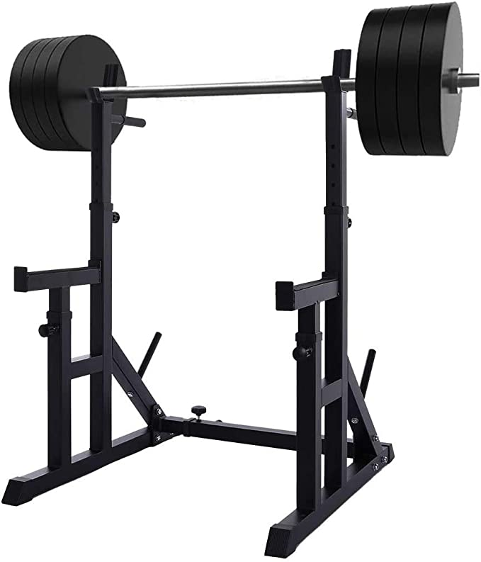 Brakites Multi-Function Barbell Rack 441LBS Height Range 40 to 62 Dip Stand Barbell Stand Weight Lifting Rack Gym Family Fitness Adjustable Squat Rack Weight Lifting Bench Press Dipping Station