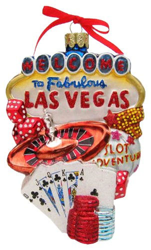 Kurt Adler C4056 Las Vegas Glass Cityscape Ornament, 5-1/2-Inch