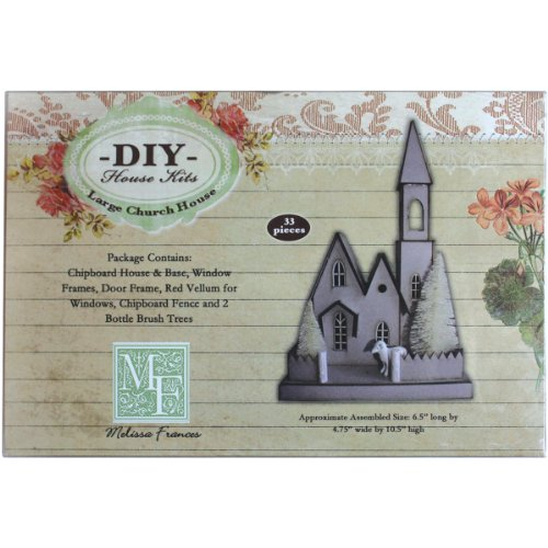 Melissa Frances DIY Chipboard House Kit, Large Church