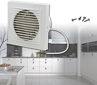 Ventilador extractor de pared silencioso de HG; color blanco, para ...