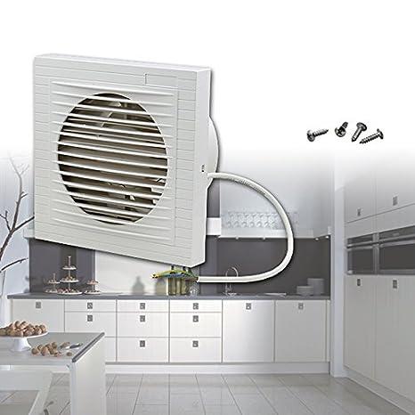 Extractores Para Cuartos De Bano.Ventilador Extractor De Pared Silencioso De Hg Color Blanco Para Cuarto De Bano Cocina Wc Etc