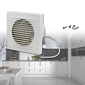 HG Wandlüfter Ventilator Wandventilator Badlüfter Abluftventilator Leise  Weiß Für Küche Bad WC