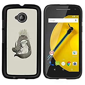 Jordan Colourful Shop - Wolf Couple For Motorola Moto E 2nd Generation Personalizado negro cubierta de la caja de pl????stico