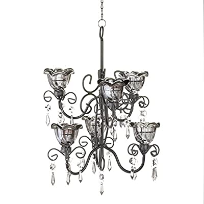 Koehler 10016073 12.875 inch Midnight Blooms Tiered Chandelier