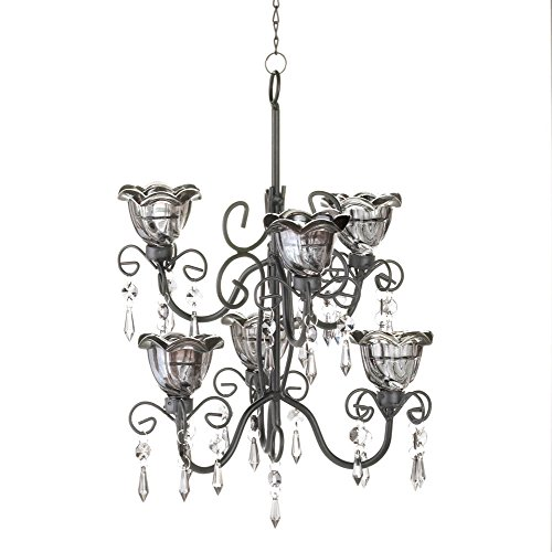 Rabbit Chandelier (Koehler 10016073 12.875 Inch Midnight Blooms Tiered Chandelier)