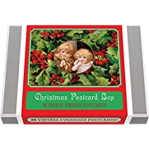 Christmas Postcard Box - 36 Unique Vintage Postcards