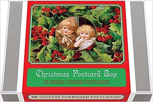 Christmas Postcards.Christmas Postcard Box 36 Unique Vintage Postcards