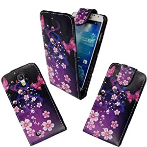For Samsung Galaxy S4 i9500 Various New Designs Stylish Printed PU Leather Magnetic Flip Case Cover+Screen Protector(Ultra Butterfly Style 2)