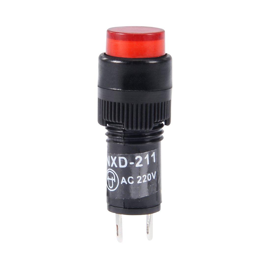 Mont/é panneau encastr/é 2//5 10mm 10pcs sourcing map t/émoin 12 V CC NXD-211 Vert Neon