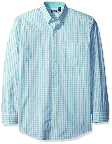 IZOD Men's Big and Tall Essential Check Long Sleeve Shirt